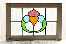 Large Antique Stained Glass Window Four (4) Colors of glass (3112)