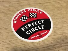 RARE VINTAGE PERFECT CIRCLE PISTON RINGS STICKER S026 92mm DRAG RACING NASCAR