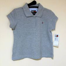 NWT Tommy Hilfiger Gray Polo Shirt For Girls Size 5