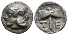 Koc Greek Coins.ISLANDS off TROAS, Tenedos. 5th century BC. AR 9mm, 0,44g,