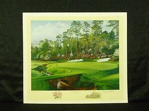 Linda Hartough Signed Hole 13 Azalea August National Masters Golf L/E Lithograph