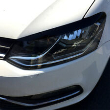 Headlights Eyebrows For 2011-2017 VW VOLKSWAGEN POLO Eyelids Trim Cover Sticker