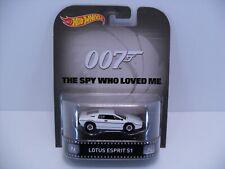 2015 Hot Wheels Retro Hobby Bond 007 Spy Who Loved Lotus Espirit S1 Real Riders