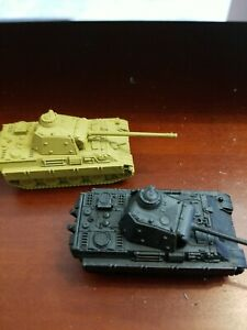 Flames of War, 15MM, German Army, 2- Panther Tanks, plastic