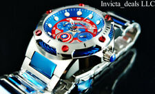 Invicta 39mm Marvel Bolt CAPTAIN AMERICA Limited Ed Red & Blue SS Bracelet Watch