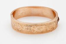 Antique Victorian 1800s 10k Yellow Gold Bangle Bracelet WIDE