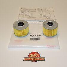 Honda XBR500 GB500 Genuine Engine Oil Filter x 2. KIT082