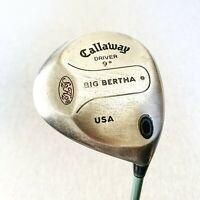 Callaway Big Bertha S2H2  Driver. 9 Degree, Stiff - Average Condition # 10264
