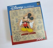 Disney Sketchbook Mickey Mouse Puzzle 529 Pcs Buffalo Games Collectibles, New