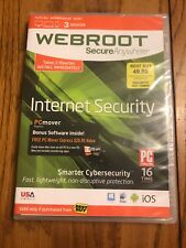 Webroot SecureAnywhere Internet Security For PC/MAC/Mobile Ships N 24h