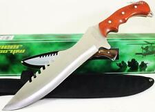 Frost Cutlery Gaint Pioneer Bowie Serrated Sawback Hunting Skinning Knife