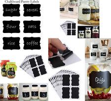 36 pcs CHALK BOARD Stickers PANTRY LABELS Wedding Craft Kitchen VINYL JAR LABELS
