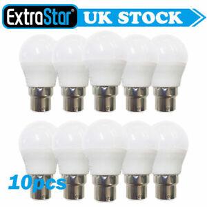 10 Pack 4W/5W/6W Energy Saving LED Bulb B22 Bayonet Light Bulbs Golf Cool Warm