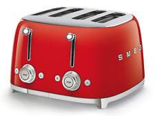 Nouveau Smeg Années 50 Style Rétro 4 Fentes Grille-pain 4 fentes-Rouge