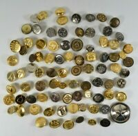 INTERESTING LOT of Vtg ALL-Metal Buttons Steampunk Art Fashion See Pictures!