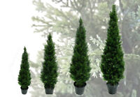 Best Artificial Potted Cedar Conifer Topiary Outdoor Trees UV fade Protected