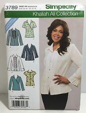Simplicity 3789 Khaliah Ali Misses' Tops B C D Cups Sizes 6 - 14 Sewing Pattern