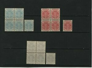 TRANSVAAL COAT OF ARMS BLOCKS - MATCHING STAMPS MNH SCOTT 95 - 96 INCL.