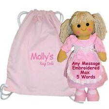 More details for personalised rag doll flower girl birthday new baby christening baptism gift