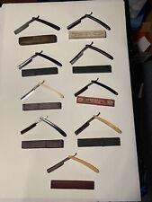Vtg Shaving Straight Razors 30s Solingen Hermes Allen Strand Original Cases