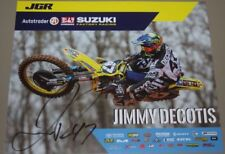 2018 Jimmy Decotis signed Joe Gibbs Racing Suzuki Supercross Motocross postcard
