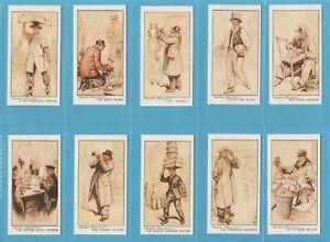 Lambert & Butler Cigarette Cards - LONDON CHARACTERS - Full mint condition set