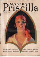 1929 Modern Priscilla August - Glorified ice Cream; sandwiches; picnic meats