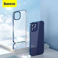 Baseus Plating Phone Case For iPhone 12 Pro Transparent Back Case For iPhone 12