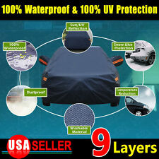9 Layers 3L PEVA Waterproof Snow Seamless Anti Heat Car Cover Breathable Outdoor