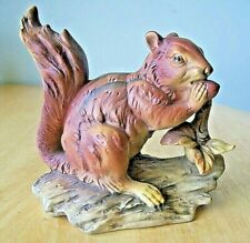 """5.75"""" high Red Squirrel Eating Nut - Mark [Crown & S] German Porcelain Exc Condt"""