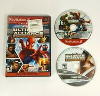 Marvel Ultimate Alliance w/ Bonus Disc - Sony Playstation 2 PS2 2007 - NO MANUAL