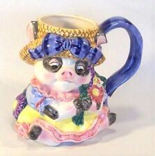 Vtg 1985 Poecelain Collectible Fitz and Floyd Old Macdonald Country Fair Pig Mug