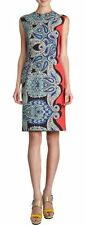 LANVIN MULTI-COLOR PAISLEY PRINT PENCIL ETE 2014 DRESS 42
