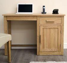 Arden solid oak furniture single pedestal office PC computer desk