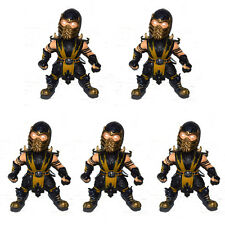 "Lot of 5 Mortal Kombat Super Deformed Scorpion 2.75"" Loose Action Figure"