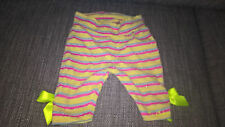 TED BAKER BABY GIRLS STRIPEY LEGGINGS WITH YELLOW BOWS 12 MONTH