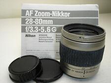 ONE Nikon AF NIKKOR 28-80mm f/3.3-5.6 AF G Lens with caps & manual VGUC 3158329