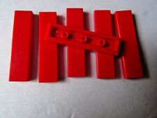 LEGO PART 2431 RED 1 x 4 TILE SMOOTH x 6