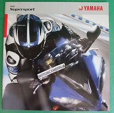 YAMAHA MOTO YZF R1 YZF R6 2008 SUPERSPORT DEPLIANT CATALOGO BROCHURE CATALOG