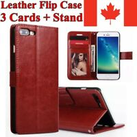 For iPhone 8 7 Plus 6 5 S SE Case Wallet Cards Leather Flip Magnetic Stand Cover