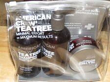 AMERICAN CREW TEA TREE GIFT SET SHAMPOO BODY WASH DEFINING PASTE 8.45OZ