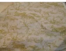 "The Hunt Stag Scene Toile De Jouy Ready Made Curtains 72"" W x 90"" D In Clay"