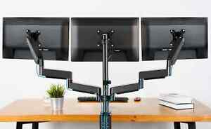 MOUNTUP Triple Monitor Stand Mount - 3 Monitor Desk Mount for Computer Screens U