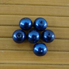Lot de 20 perles en verre  8 mm couleur bleu marine,fioles,fimo,bracelet-pvc029