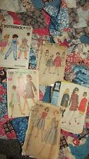 VINTAGE MID CENTURY 5 CHILDRENS DRESS PATTERNS 1950's & 60's