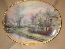Lamplight Lane collector plate Thomas Kinkade Lamplight Village Bradford