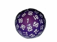 Purple 100 Sided Dice by BrycesDice RPG Magic D&D with White Number Unique Rare
