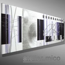 Gemälde abstrakt bilder handgemalt MICO Leinwand BILD ORIGINAL MALEREI 120x40 XL