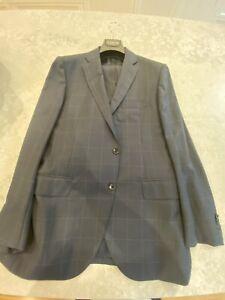 """MJ Bale"" Size 40 Jacket / 34 Pants reg Fit - Navy Window Pane Check"