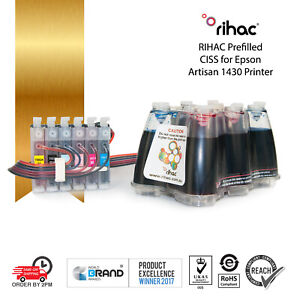 Rihac Continuous Ink System 82N alternative for Epson Artisan 1430 Printers CISS